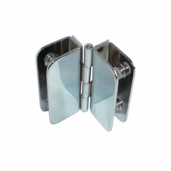 Bisagra Aleta Doble Vidrio 6mm