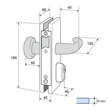 Cerradura con muesca IG1001