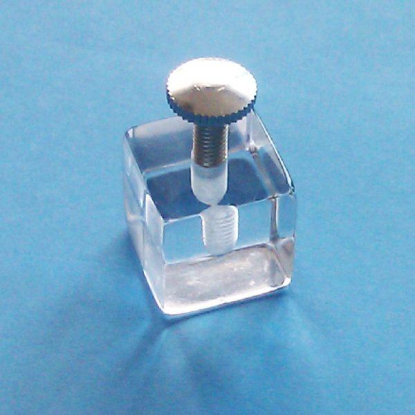 Cubo Metacrilato para Vitrinas 1 Taladro
