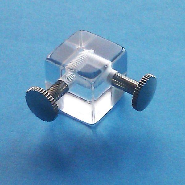 Cubo Metacrilato para Vitrinas 2 Taladros