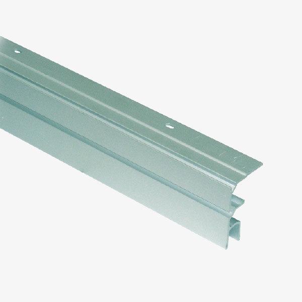 Perfil de corredera para vidrio fijo