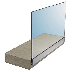 Barandilla transpararente glass u a pared