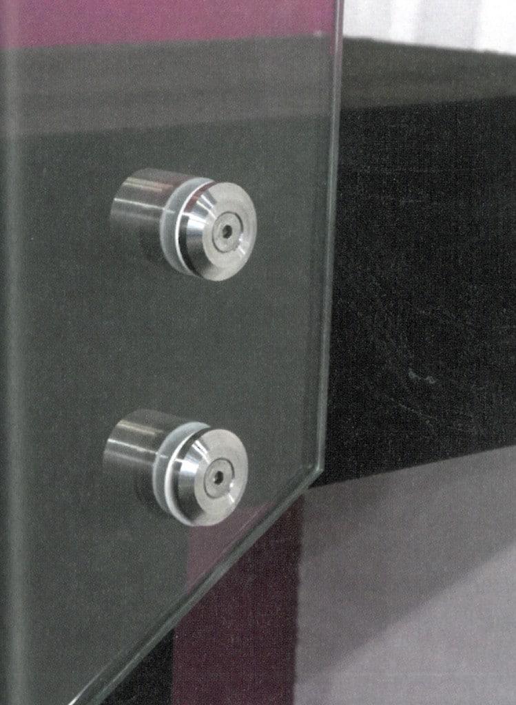 Botón de Fijación a muro para vidrio en Acero Inox
