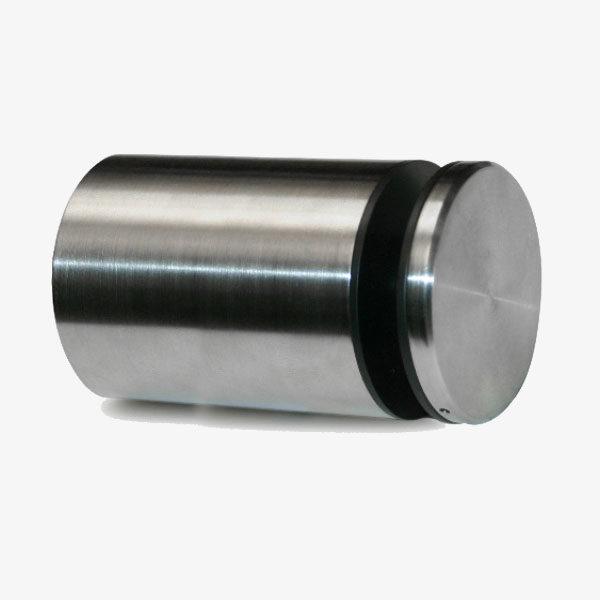 Botón acero vidrio 30mm