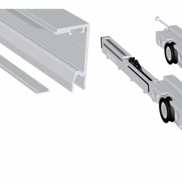 Kit SV-X70 doble softbrake a techo y vidrio fijo