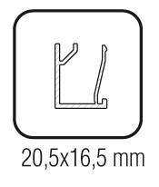 Tapeta embellecedora aluminio vidrio fijo Sv-X150
