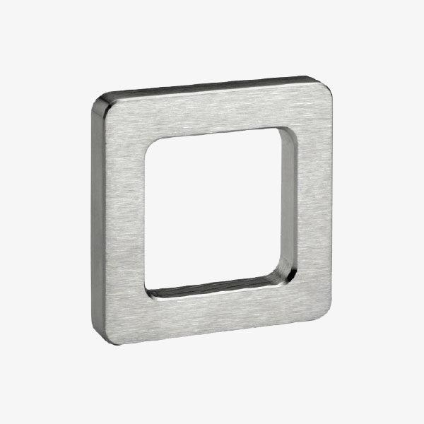 Uñero cuadrado adhesivo de aluminio