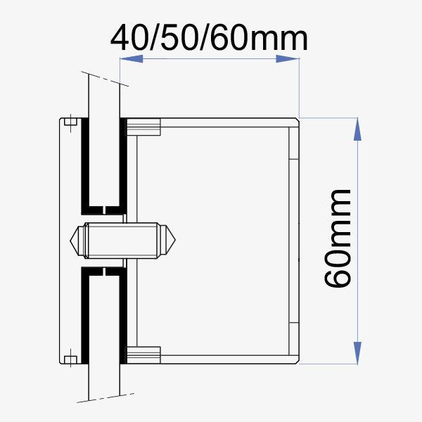 Medidas boton acero inox 60mm